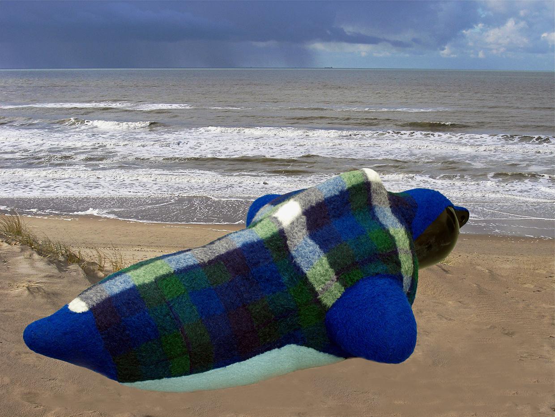 """""""woollen sea sound sculpture"""""""